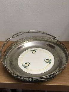 Art Deco - Art Nouveau serving tray with handle