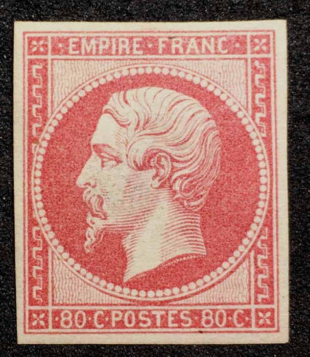 France 1860 - 80c Rose on Pinkish - Yvert 17B