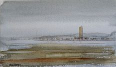 5x Franklin Meijer (1945) - Terschelling - Lot of 5 watercolour studies depicting the island