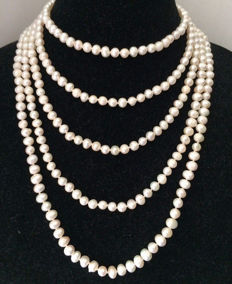 Baroque Freshwater Pearl Endless Necklace