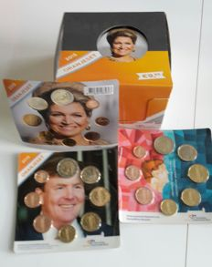 The Netherlands – 1 cent to 2 euro 'Orange pack 2015 in Box' – 19 blisters in total