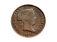 Spain - Isabel II (1833–1868) 1 silver escudo 1867 - Madrid