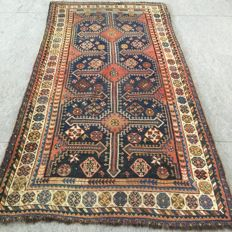 Antique collector's carpet !!  100 years old Kazak carpet, 294 x 150cm, circa 1910