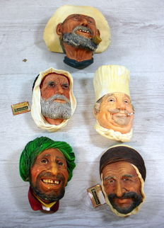 Collection of 3D Bossons Kurd hand-painted wall statues 5 x