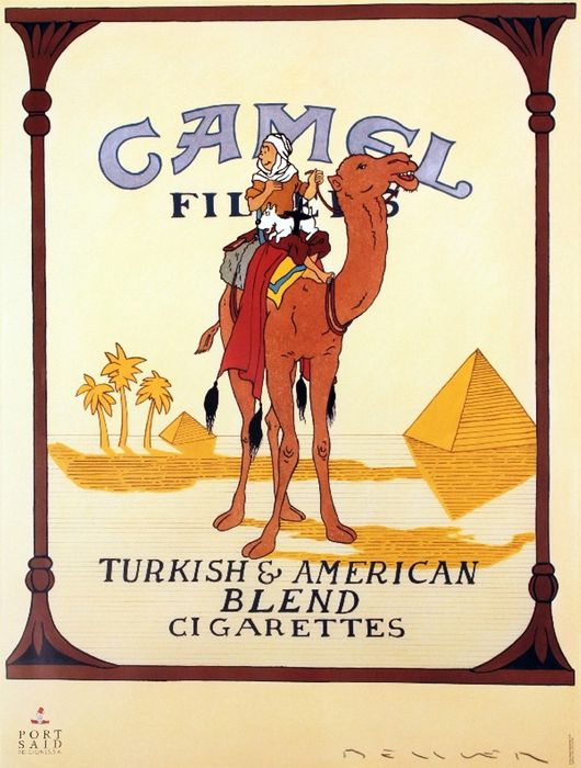 Fernando Bellver - Camel Cigarettes with Tintin and Milou on the camel - 1990