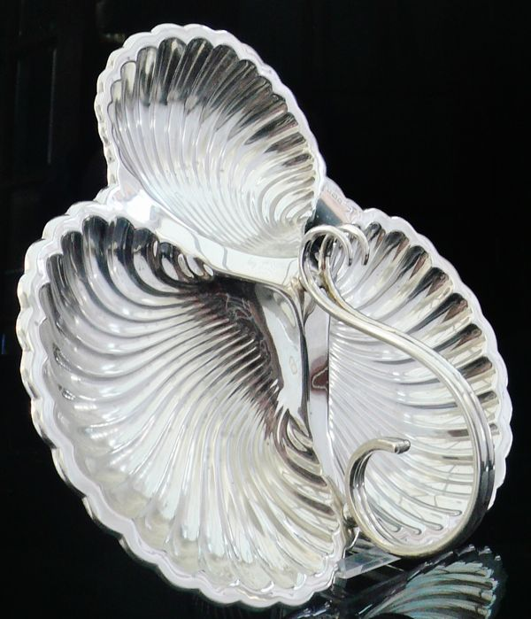Silver Hors d'oeuvres 3 Division Dish, Sheffield 1915, Mappin & Webb