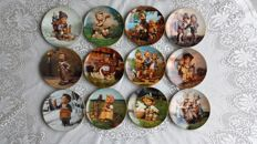 "Hummel wall plates, complete collection ""Durch Das Ganze Jahr"""