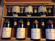 1985 Mixed Lot Bersano - 7 bottles (4x 75 cl. and 3x 50 cl.) in Original Wooden Case