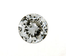 Brilliant cut diamond, 0.50 ct, F/SI1 HRD certified, in pouch