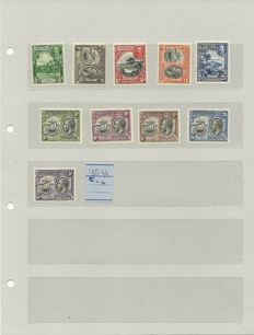 Grenada 1934 - Collection on spare pages