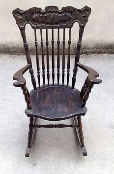 Rocking chair, Veneto, Early 1900s