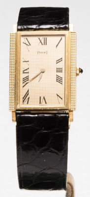 Piaget - Piaget Rectangular 18K  Gold Clous de Paris full - Full Set - Unisex - 1970-1979