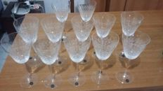 Beautiful set of 12 Crystal glasses - Rosenthal studio-line Germany