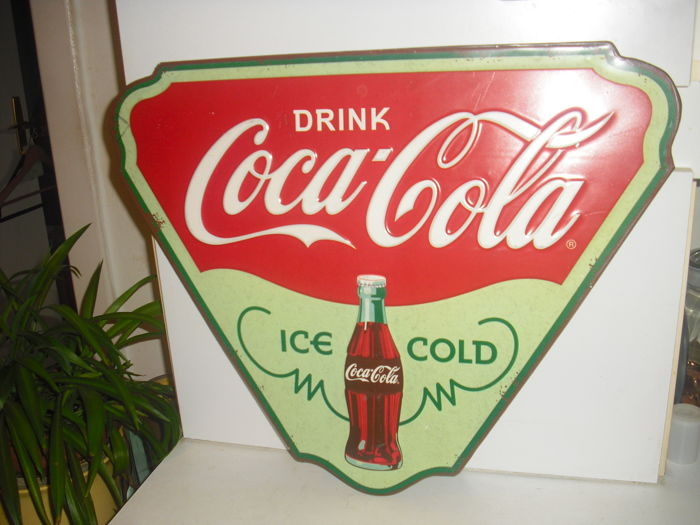COCA COLA metal sign ICE COLD - late 20th century.