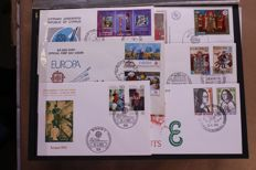 Europa Stamps 1975/1984 - Collection of approx. 600 different FDCs in box
