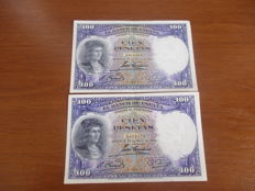 Spain - Lot of 40 banknotes - (1925-1970)
