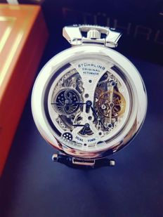 Sthurling Original automatic dual time skeleton gent wristwatch