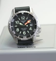 Army watch made in Germany by Eichmüller - automatic diver's watch 500 m - men's wristwatch, 2017