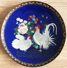 A very nice XL large cloisonne charger (40 cm) - Japan - late 19th century - Meiji period