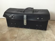 Vintage black leather tool case for in your classic car - approx. 50x20x20 cm
