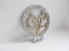 early vintage THE VETERAN CAR CLUB OF GREAT BRITAIN  chrome on brass car badge original stunning rare