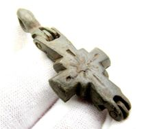 "Byzantine Bronze Reliquary Cross Ëncolpion"" reliquary cross pendant---12th-14th c AD-- - 95 x 66 mm"