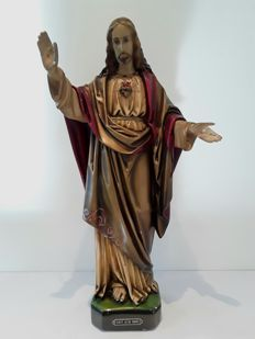 Religious statue of Jesus Christ - Belgium - 19th century
