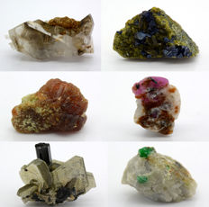 Minerals Specimen Lot - 27 to 67 mm - 130 gm (6)