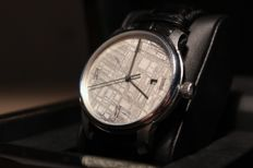 Meteorite Watch - High Quality Swiss Automatic Movement (ETA 2824-2) - Meteorite Dial (Rhodium plated)