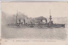 Very good batch of 52 old postcards on war battleships, cruisers, torpedo boats against torpedo boats