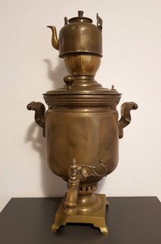 Large Russian Samovar with teapot - Tula