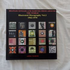 The Beatles Set  of 3 Illustrated Discographys with Singles And Sleeves From Europe & Around The World by Azing/Samuel