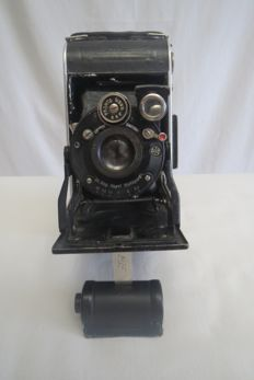 "The very first camera ""Vollenda №68""  Dr.Aug.Nagel Stuttgart .,3/10,5cm in Gauthier Pronto shutter."
