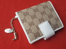Gucci Wallet Hook GG pattern two fold wallet beige Brown [with charm] 154181