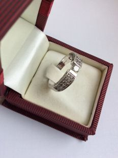 14 kt golden ring of the brand Christ, 585 gold, 1.13 ct brilliant - size: 58/59