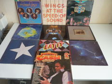 Lot with 10 great  rock albums : the WHO ,Neil Young, the Stills & Young Band,Humble Pie (2lp), the Beach Boys, Johnny Cash( 2lp) ,  Dire Straits, Wings (2x). Yes