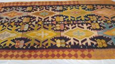 Old, handwoven Caucasian Avar kilim carpet, 308 x 150, second half 20th century.
