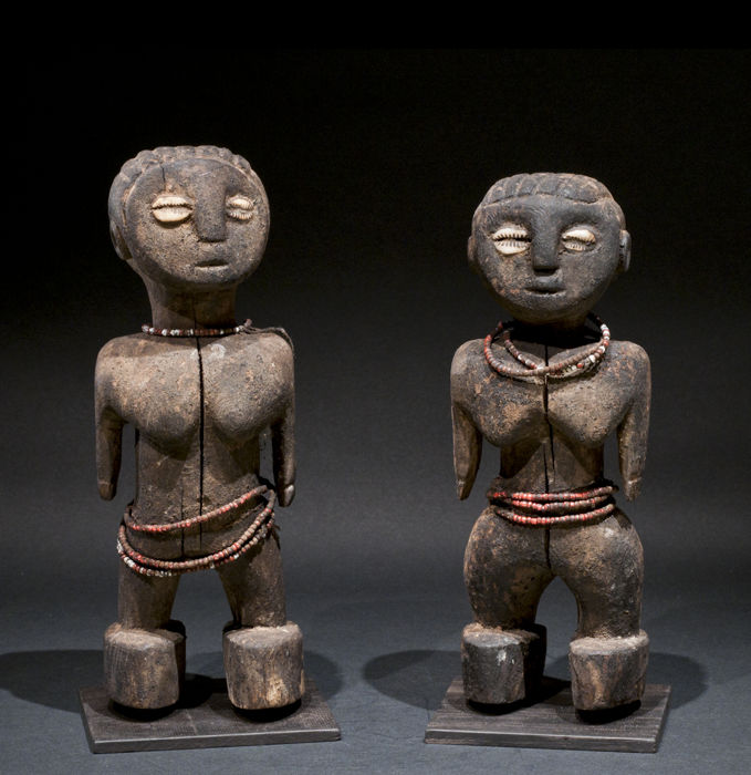 Couple of statuettes - EWE - Ghana / Togo