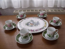 Pie plate and coffee service - Royal Worcester & Hutschenreuther