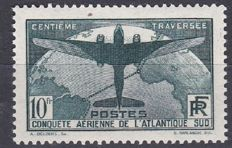 France 1936 - South-Atlantic crossing - Yvert no. 321