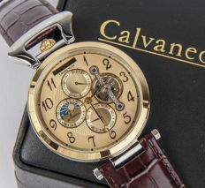 Calvaneo 1583 Lucida Nova Gold – Multifunctional men's wristwatch 2017 collection – New.