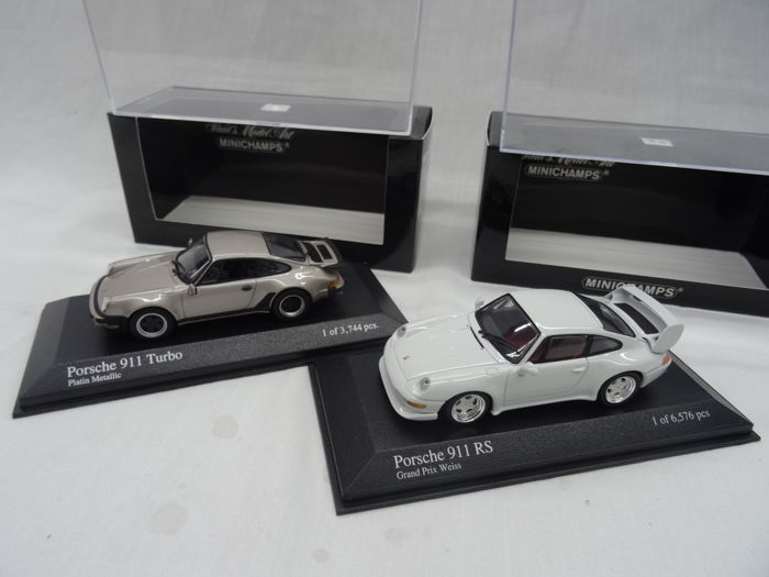 Minichamps - Scale 1/43 - Porsche 911 RS 1995 & Porsche 911 Turbo 1977