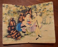 Oriental Erotica; Pillow Book with 5 erotic, Chinese scenes - 2nd half 20th century