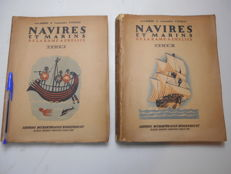 G. the Roerie and Commander J. Vivielle - ships and sailors of the oar to the propeller - 2 volumes - 1930