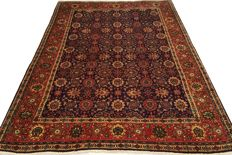 Hand-knotted Persian carpet, TABRIZ, 300 x 189, Iran - Late 20th century