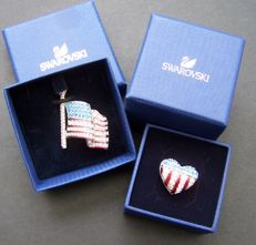 Swarovski - Brooches USA Flag Designs