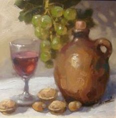 "Unknown (21th Century) - ""Still life with walnut"""