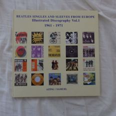 The Beatles Set  of 3 Illustrated Discographys with Singles And Sleeves From Europe & Around The World by Azing