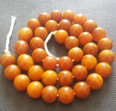 Amber necklace, 100% Baltic Amber, 88.66 gram