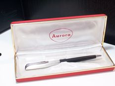 Aurora in 925 solid silver and black resin, new and original refill, complete with original box